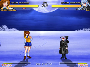 Satsuki vs. Len from Melty Blood Re•ACT