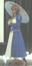 Saber cosplayer at FanimeCon 2006