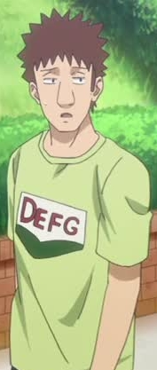 Kageyama Koujiro wearing DEFG shirt from Baby Steps